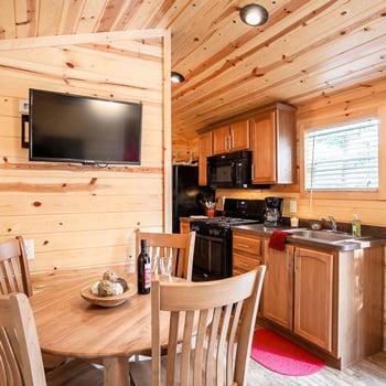 Cabin Kitchen at Lake James Camping Resort & Marina