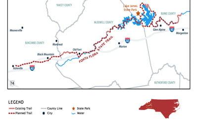 Fonta Flora Trail Map